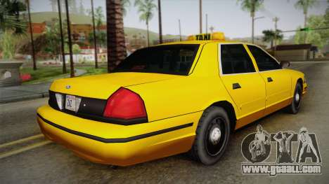 Ford Crown Victoria Taxi for GTA San Andreas left view