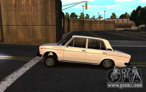 VAZ 2106 azelow for GTA 4 back view