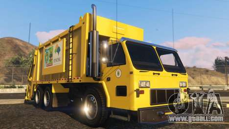 GTA 5 Portugal, Madeira Garbage Truck CMF Skin back view