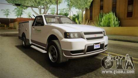 GTA 5 Vapid Utility Van IVF for GTA San Andreas