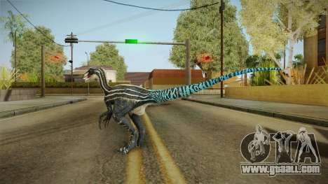 Primal Carnage Velociraptor Blue Tailed for GTA San Andreas third screenshot