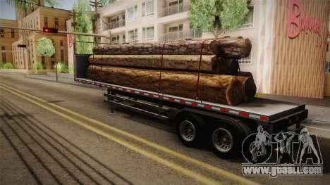 GTA 5 Log Trailer v3 IVF for GTA San Andreas left view