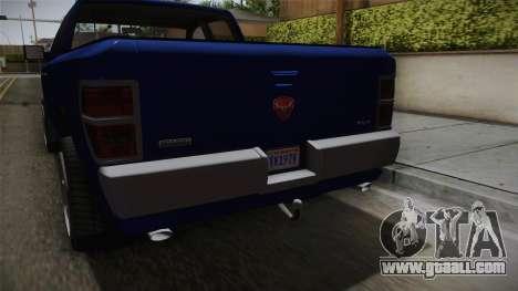 GTA 5 Bravado Bison for GTA San Andreas inner view