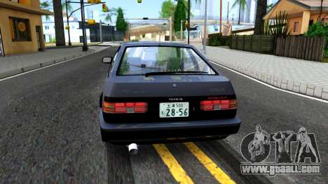 Toyota Sprinter Trueno for GTA San Andreas back left view