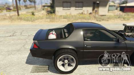 GTA 5 IROC-Z Big V8 Drag Car rear right side view