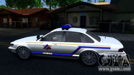 Vapid Stanier Hometown Police Department 2004 for GTA San Andreas left view