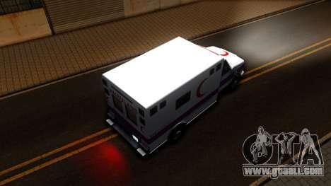 Ambulance Malaysia for GTA San Andreas back view