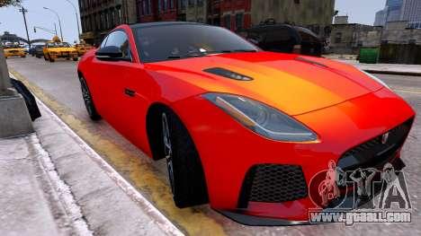 Jaguar F-Type SVR v1.0 2016 for GTA 4