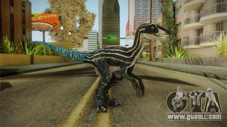 Primal Carnage Velociraptor Blue Tailed for GTA San Andreas second screenshot