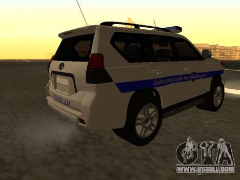 Toyota Land Cruiser Polise Armenian for GTA San Andreas back view