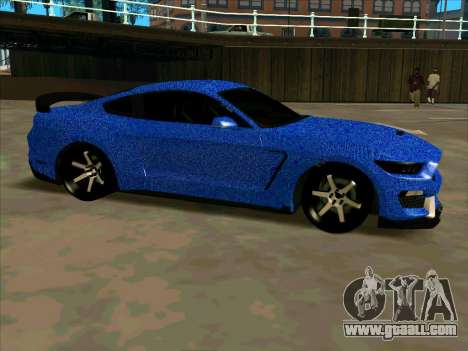 Ford Mustang BLUE STYLE for GTA San Andreas left view