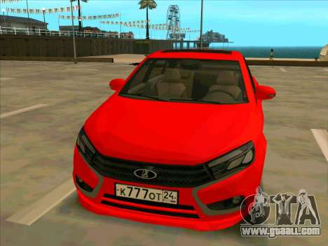 Lada Vesta BPAN for GTA San Andreas back left view