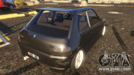 GTA 5 Peugeot 106 rear left side view