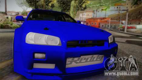 Nissan Skyline ER34 Rocket Bunny for GTA San Andreas right view