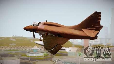 EMB McDonnell Douglas A-4M Skyhawk for GTA San Andreas left view