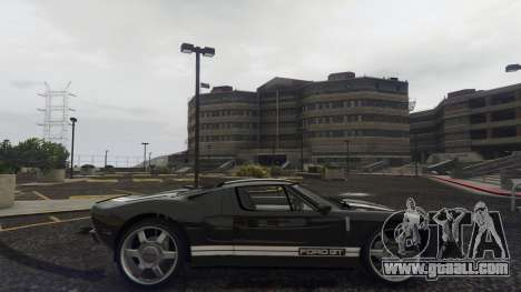 GTA 5 Ford GT 2005 left side view