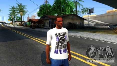 Nike Air Jordan S.O.M. Do You Know T-Shirt White for GTA San Andreas second screenshot