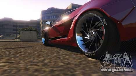 GTA 5 Lamborghini Gallardo Superleggera LibertyWalk rear right side view