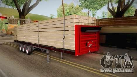 Flatbed Trailer Red for GTA San Andreas right view