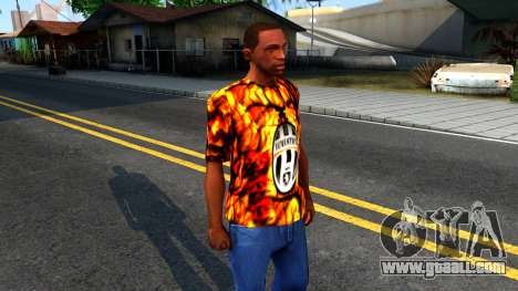 Juventus Flame T-Shirt for GTA San Andreas second screenshot
