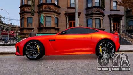Jaguar F-Type SVR v1.0 2016 for GTA 4 left view