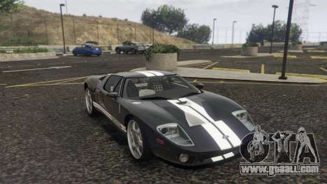 GTA 5 Ford GT 2005 back view