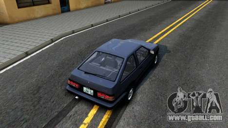 Toyota Sprinter Trueno for GTA San Andreas back view