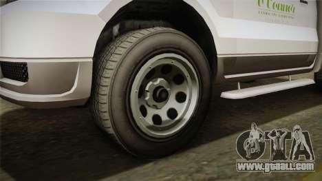 GTA 5 Vapid Utility Van IVF for GTA San Andreas back view