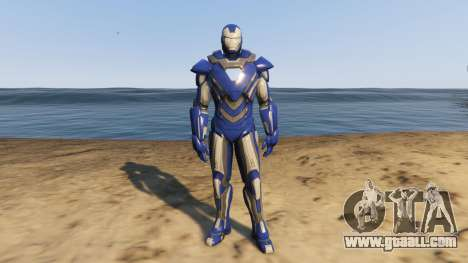 GTA 5 Iron Man Blue Steel