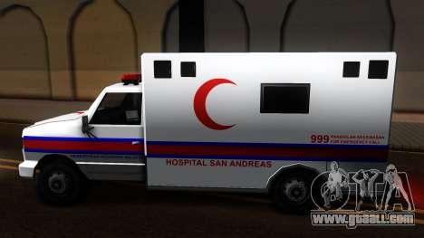 Ambulance Malaysia for GTA San Andreas left view