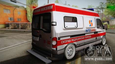 Renault Master Ambulance for GTA San Andreas left view