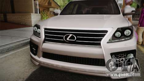 Lexus LX570 F-Sport Design for GTA San Andreas