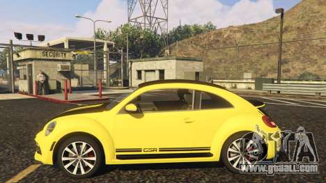 GTA 5 Limited Edition VW Beetle GSR 2012 left side view