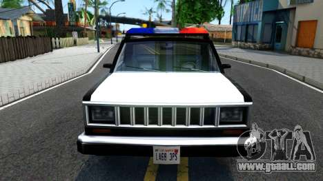 Police Bobcat for GTA San Andreas inner view