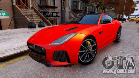 Jaguar F-Type SVR v1.0 2016 for GTA 4 right view