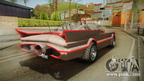 GTA 5 Vapid Peyote Batmobile 66 IVF for GTA San Andreas back left view