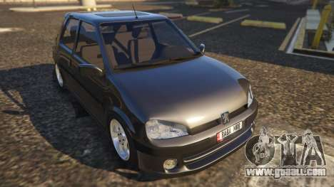 GTA 5 Peugeot 106 back view