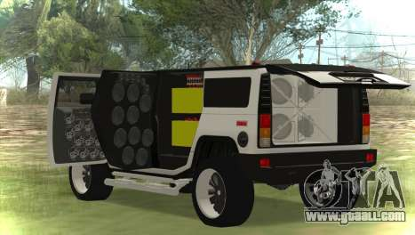 Hummer H2 Loud Sound for GTA San Andreas back left view