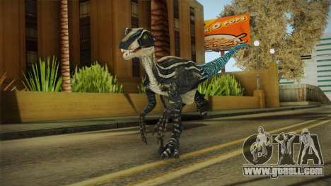 Primal Carnage Velociraptor Blue Tailed for GTA San Andreas