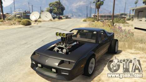 GTA 5 IROC-Z Big V8 Drag Car back view