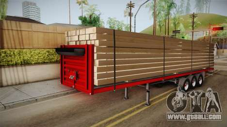 Flatbed Trailer Red for GTA San Andreas