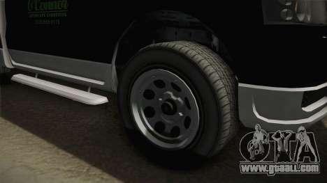 GTA 5 Vapid Utility Van for GTA San Andreas back view