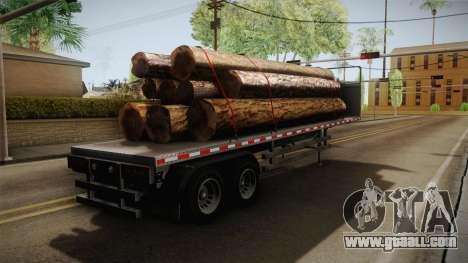 GTA 5 Log Trailer v3 IVF for GTA San Andreas back left view