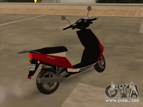 GTA IV Faggio for GTA San Andreas left view