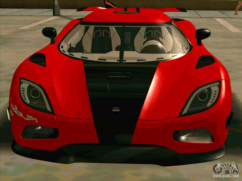 Koenigsegg Agera R NFS For GTA San Andreas Back Left View