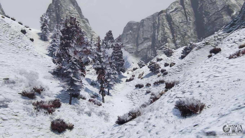 Gta 5 Christmas.Christmas In Singleplayer Snow Mod 1 01 For Gta 5