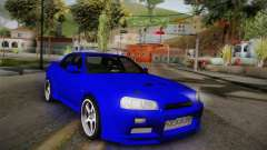 Nissan Skyline ER34 Rocket Bunny for GTA San Andreas