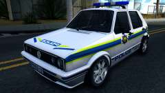 Volkswagen Golf White South African Police