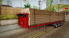Flatbed Trailer Red