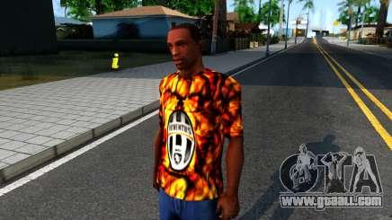 Juventus Flame T-Shirt for GTA San Andreas